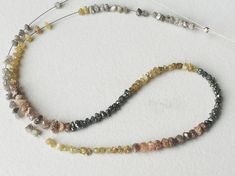 Multicolor Rough Diamonds YellowGrey Red & Black by gemsforjewels
