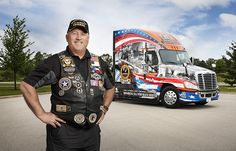 Freightliner presented Schneider with the truck just before Memorial Day weekend in May, and Price and the truck made their debut at the Rolling Thunder rally in Washington, D.C., that weekend.