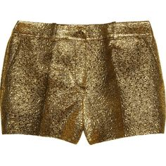 Michael Kors Metallic brocade shorts ($795) ❤ liked on Polyvore