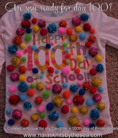 100th day of school t-shirt www.naiasknitsbythesea.com