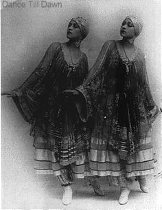 The Dolly Sisters  Picture of Rozika or Rosy and Jenny or Yansci Dolly of the famous Dolly Sisters. These sister were twins who danced on Broadway then in Movies. Jenny  married Harry Fox who invented the Fox Trot dance in 1914. They would later dance Mambo a Latin dance in a few Spanish Movies.