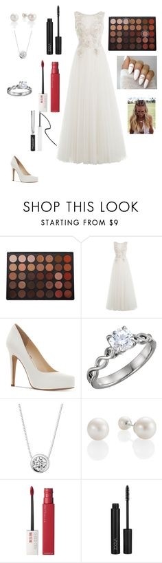 """""""My Wedding"""" by ccmc-1 ❤ liked on Polyvore featuring Morphe, Alberta Ferretti, Jessica Simpson, Charles & Colvard, Maybelline and Forever 21"""