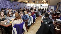 Grand Meadow, Southland and Glenville-Emmons students have lunch at El Mariachi as part of their combined Spanish class. The students were required to talk and order in Spanish. -- Photos Eric Johnson/photodesk@austindailyherald.com