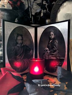 A Victorian Folding Photo Frame is an elegant addition to any Victorian theme, whether it's for Halloween or all year round. Halloween Make, Halloween 2015, Halloween Fashion, How To Make Something, Creepy Images, Victorian Goth, Graphics Fairy, Christmas Carol, Halloween Decorations