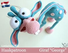 005Nl Giraf George  Amigurumi Haakpatroon  PDF door LittleOwlsHutNL
