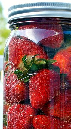 Champagne Infused Strawberries - Dip in chocolate or just nibble as is...