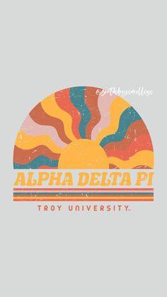 ✰ South By Sea @southbyseacollege ✰ Alpha Delta Pi | ADPi | Retro Vintage South By Sea | Greek Tee Shirts | Custom Apparel Design | Custom Greek Apparel | Sorority Shirts | Sorority Graphics | Sorority Tanks | Sorority Shirt Designs