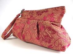 Pleated Wristlet Zipper Pouch Clutch Bag  by liliavaniniboutique, $32.00