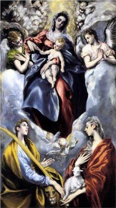 La Virgen y el Niño con Santa Martina y Santa Inés.