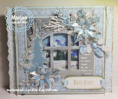 Marianne Design - New Items Christmas Card Crafts, Handmade Christmas, Christmas Decorations, Fall Cards, Xmas Cards, Marianne Design Cards, Winter Karten, Window Cards, 3d Cards