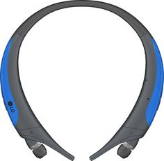LG - Refurbished Tone Active Wireless In-Ear Behind-the-Neck Headphones - Gray/Blue