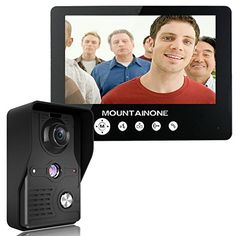 MOUNTAINONE 9 Inch Video Door Phone Doorbell Intercom Kit 1camera 1monitor Night Vision >>> Continue to the product at the image link-affiliate link. #HomeSecurityCameras