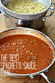 The Best Spaghetti Sauce recipe. A creamy Alfredo blended together with a sweet Basil Marinara.