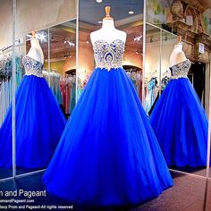 Find More Prom Dresses Information about Royal Blue long puffy Prom Dresses Appliqued Gold Lace Sweetheart Beaded Tulle Evening Dress 2017 vestido longo de formatura ,High Quality dresses for baby girls,China dress hoes Suppliers, Cheap dress popular from Hello May Dresses Custom Made on Aliexpress.com