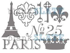 Vive la Francia plantilla 11 x 8 por BlankSlateStencils en Etsy