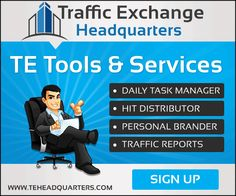 Do you surf a lot of traffic exchanges?  These days, most everyone do and it can be kind of frustrating  trying to keep track of the traffic exchanges you surf.  Guess what? the frustration ends now!  Let me introduce to you Traffic Exchange Headquarters!