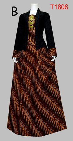 BAJU BATIK WANITA MOTIF JARIK T1806 Batik Muslim, Kebaya Dress, Batik Fashion, Batik Dress, Ankara Styles, Cute Dresses, Designer Dresses, Fashion Dresses, Gowns