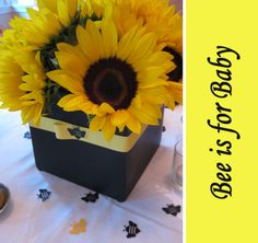 Omg! I saw the cutest sunflower/bumble bee baby shower ideas!!! Thought of you immediately!