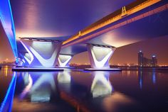 1X - Al Garhoud Bridge, Night by Robert Work