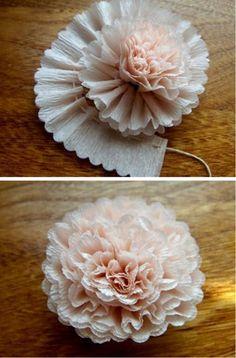 flower papier crépon
