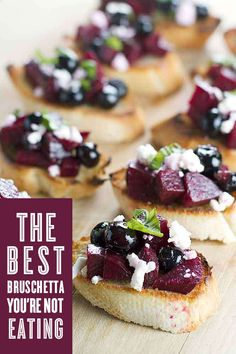 This bruschetta recipe incorporates beets and berries, and it's as delicious as it is pretty! Click to see the recipe.