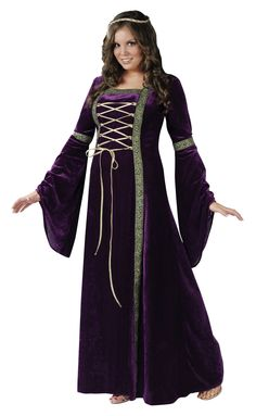 Womens Renaissance Lady Plus Size Costume