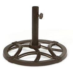 Umbrella Base Cast Iron Round Outdoor Portable Weather resistant Rust free Patio #EssentialGarden