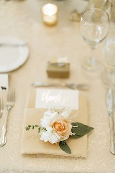 Elegant Minnesota Christian Wedding - place setting