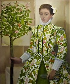 'Pomona: Goddess of the Orchards' by Lizzie Riches (oil on canvas) Art Beat, Magic Realism, London Art, Historical Costume, Figure It Out, Sacred Art, Natural World, Installation Art, Contemporary Artists