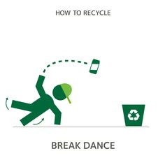 Dance moves for days. #howtorecycle