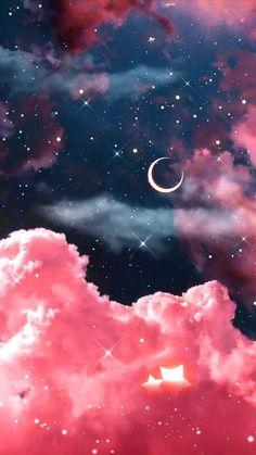 Galaxy Wallpaper Iphone, Wallpaper Tumblr Lockscreen, Butterfly Wallpaper Iphone, Aesthetic Desktop Wallpaper, Scenery Wallpaper, Pink Wallpaper Cartoon, Wallpaper Fofo, Beautiful Landscape Wallpaper, Night Sky Wallpaper