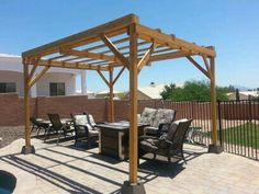 Pergola - wood, cement base, stain, and screws @ Lowes $147.00, 2 hours of assembly time. Curtains to come double side Burlap and metal rods $50.00. 35yards of fabric from SAS Tempe, conduit poles and spray paint from Lowes