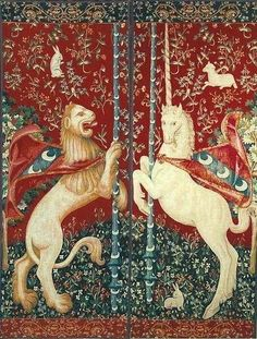 Tapestry of the Lady and the Unicorn. Detail. 1480-1490.