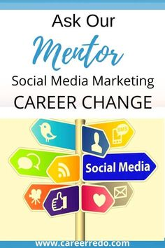 With so many options in a social media marketing job, talk with your Mentor to get insight from an experienced pro. #socialmediamarketingjob #socialmediamarketing #careerchange #findamentor Career Change For Teachers, Midlife Career Change, Social Media Marketing Manager, Digital Marketing Manager, Own Business Ideas, Web Business, Veteran Jobs, Career Fields, Teaching Techniques