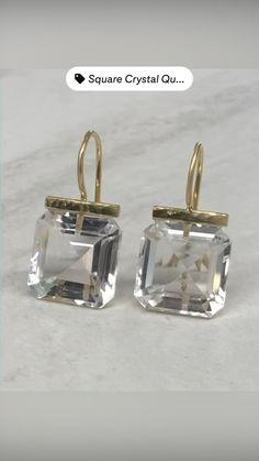 Gold Jewelry, Jewelry Box, Jewelery, Dangle Earrings, Fine Jewelry, Handmade Sterling Silver, Quartz Crystal, 18k Gold, Jewelry Design