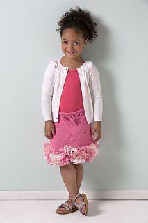 Little girl's ruffle skirt-free pattern on ravelry