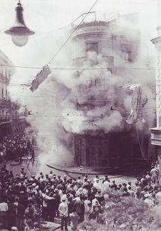 incendio del nuevo casino (o'donnel esquina con san eloy) en agosto de 1932, como respuesta al levantamiento del general Sanjurjo