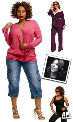 What I like about outfit casual Queen Latifah's clothing line is called curvation