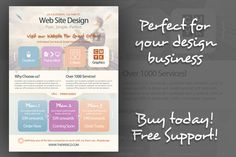 I just released Web Design Flyers (Flat Style) on Creative Market.