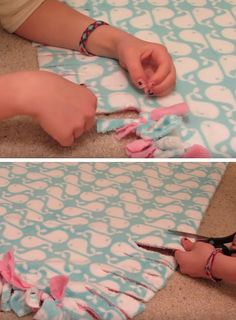 Step 3|How to Make a Tie Blanket