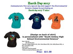 Earth Day 2017 T-Shirts