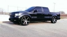 Lets see some lowered trucks - Page 126 - Ford Forum - Community of Ford Truck Fans Ford F150 Crew Cab, Ford F150 Fx4, Dropped Trucks, Lowered Trucks, Ford F150 Custom, Fords 150, Lincoln Mark Lt, Ford Pickup Trucks, Trucks And Girls