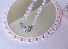 Beaded chocker necklace from StardustbySJ Beaded Chocker, Chocker Necklace, Pink Grey, Gray, Handmade Jewelry, Make Up, Classy, Chain, Beads