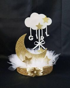 Twinkle Twinkle Little Star Baby Shower Centerpiece/ Twinkle #babyshowerthemes #decoracionbabyshowerboy