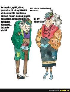 No tupakat, sytka, nitrot. Old Folks, Old Women, Watercolor, Lady, Pictures, Illustrations, Fictional Characters, Inspiration, Pen And Wash