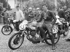 Giacomo AGOSTINI 1961 (19 ans). Morini 175