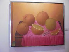NARANJAS (1997).   Fernando Botero, Medellin  1932. Óleo sobre lienzo.