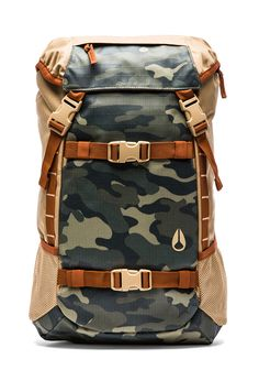 Nixon Khaki + Surplus Camo Landlock Backpack