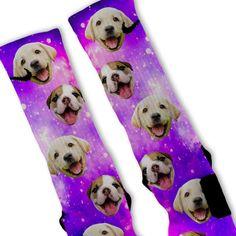 Puppy Power Galaxy Custom Nike Elite Socks