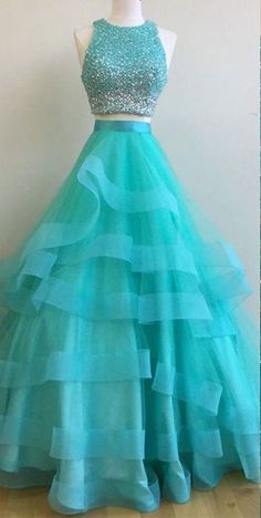 Two Pieces Prom Dress, Prom Dresses For Teens,Graduation Party Dresses, Sweet 16 Dresses